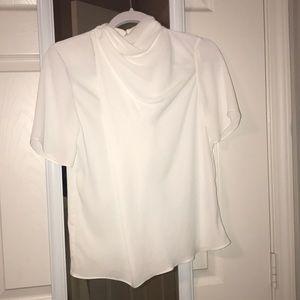 Asos white short sleeved blouse